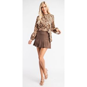 NWT Leopard. Long Sleeve Blouse/Top
